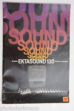 Kodak Ektasound 130 Movie Camera Instruction Owners Manual Guide Book Used B95