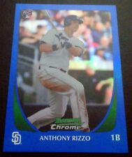 ANTHONY RIZZO 2011 Bowman BLUE REFRACTOR SP Rookie Card RC 22/199 Chicago Cubs
