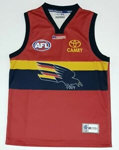 Vintage Adelaide Crows Mens Russell Athletic AFL Guernsey Size XL Rare!