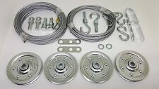 Complete Garage Door Pulley/Cable Set For Extension Springs