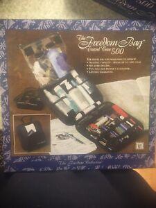 Freedom Bag Travel Case Makeup Toiletries Large Organizer Tote Case Black Fb500