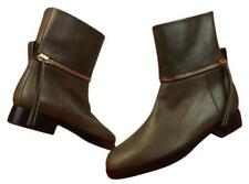 NIB PIERRE HARDY Taupe Leather Zipped Motorcycle Ankle Boots 8.5 ITALY