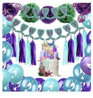 Mermaid Party Balloons Set Birthday Mermaid Kit
