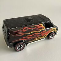 Hot Wheels Redline Super Van Black Flames Flying Colors HK 1974