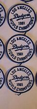 THREE LOS ANGELES DODGERS 1981 WORLD SERIES EMBROIDERED SEW-ON PATCHES