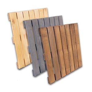 Holzfliesen 50x50 Kiefer Terrassen Fliesen Garten Balkon Bodenfliesen Holz Tritt