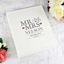 Personalised Mr and Mrs Traditional Cream Photo Album Wedding Day Gift