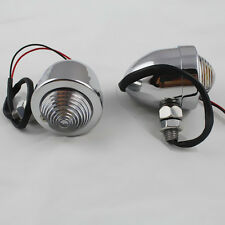 Chrome Bullet Metal Turn Signal light For Honda Kawasaki Yamaha Suzuki Chopper