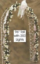 8' Prelit Wedding Arch with 200 Clear Net Lights