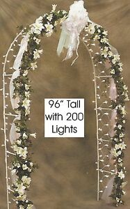 8' Prelit Wedding Arch with 200 Clear Net Lights (Only a few left)