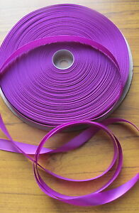 100yd  large reel / roll (over 90m) 12mm satin fabric ribbon crafts single sided