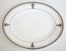 LENOX *WESTCHESTER LEGACY* Bone China Platinum Greek Key Oval Serving Platter