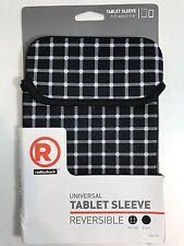 "RadioShack Universal/Reversible Tablet Sleeve Fits Most 7-8"" Tablets Black/White"