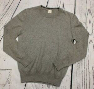 Crewcuts By J.Crew Boys Pullover Sweater Grey Knit 8 Years 5% Cashmere