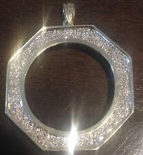 10k Yellow Gold Bezel Pendant for 1 oz. Coin + 78 Diamonds!