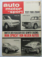 Auto Motor Sport 7/1963, Test: Ford Zodiak, ATS 2500 GT, Abarth 2000 GT