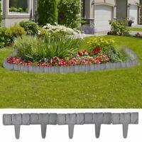 vidaXL Plastica giardino/Prato recinzione in pietra 41 pezzi 10 m