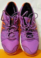 New listing Asics Gel Upcourt 3 Purple Orange Volleyball Shoes Women's Size 8