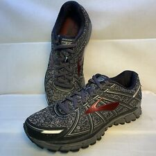 Brooks Adrenaline GTS 17 Charcoal Black Running Shoes 1102411D015 Men's Size 9.5