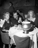 8x10 Print Mary Pickford Rita Hayworth Aly Kahn Mocambo Club 1948 Candid #RHMP