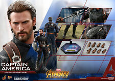 MARVEL Captain America Collector Edit Action Figure 1/6 Hot Toys Sideshow MMS480