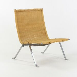 Poul Kjaerholm for E Kold Christensen Denmark PK22 Lounge Chair Original Wicker