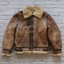 Vintage Schott B-3 Shearling Leather Flight Bomber Jacket 40 USAAF Made in USA
