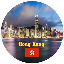 HONG KONG VISTE/BANDIERA ROTONDO NOVITÀ NEGOZIO DI SOUVENIR
