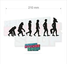 Evolution furry cosplay fox furrie brony vinyl decal sticker