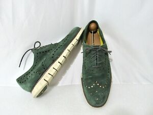Cole Haan Zero Grand Mens Green Oxfords Wingtip & Brogue Shoes 10D