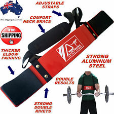 AUSTODEX WEIGHT LIFTING BODYBUILDING BICEP ARNOLD ARM BLASTER EZ BAR CURL ARMS
