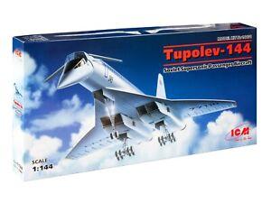 ICM 14401 Soviet Supersonic Passenger Aircraft Tupolev-144 1/144