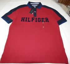 Men's Tommy Hilfiger Short Sleeve Polo shirt XL Custom Fit 78B6565 622 red navy