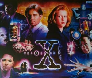 The X Files Pinball Translite Original Sci-Fi 1995 Original David Duchovny Sega
