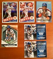 Darryl Strawberry Modern Lot with Chrome Promo Refractor & Inserts - 6 Cards