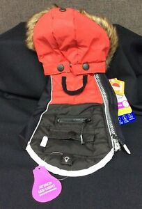Top Paw Hooded Reflective Winter Coat~ Red/Black~ Choice of XS, S, M, L, XXL~NEW