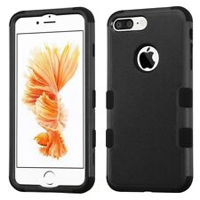 Natural Black/Black TUFF Hybrid Phone Protector Cover Case for iPhone 7 Plus