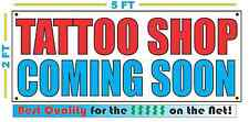 TATTOO SHOP COMING SOON Banner Sign NEW 2X5
