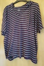 Sonoma Purple & Grey Stripe hooded top - Size XL