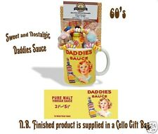 Daddies Sauce Mug with a Teatime Selection of 1960's Retro Sweets