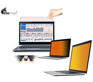 Foxcript Gold Laptop anti Spy Privacy View Protection Filter Privacy Foil