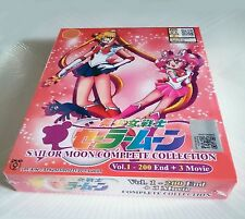 SAILOR MOON The Collection Anime TV Series Ep.1 - 200 End PLUS 3 Movies DVD Set