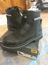 Mens Caterpillar  Steel Toe Safety Leather CAT Boots Size 8