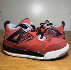 Nike Air Jordan 4 IV Retro TD Toddler Toro Bravo Fire Red Size 9c Sneakers Shoes
