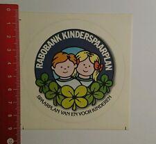 Aufkleber/Sticker: Rabobank Kinderspaarplan Spaarplan van en voor (08101615)