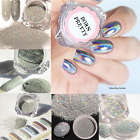 Holographic Nail Glitter Powder Nail Art Laser  Dust Chrome Pigment DIY