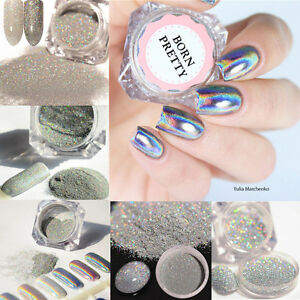 Holographicss Nail Glitter Powder Nail Art Laser  Dust Chrome Pigment DIY