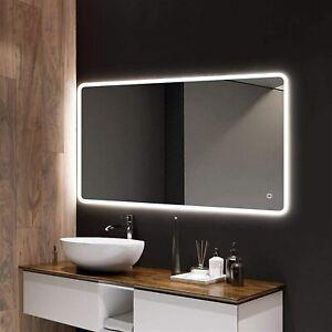 Bathroom Mirror Light up Large Wall led Mirror illuminated Heated With Bluetooth