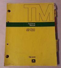 JOHN DEERE 820 TRACTORS TECHNICAL MANUAL / TM-4212 / JUNE 1972