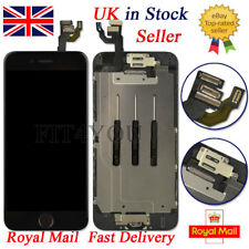 For iPhone 6 Screen Replacement LCD Digitizer Touch black Home Button Camera UK